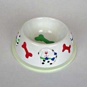 Embossed Dog Food Water Dish Bowl No Slip Drink
